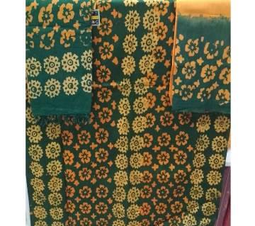 Unstiched batik cotton three piece