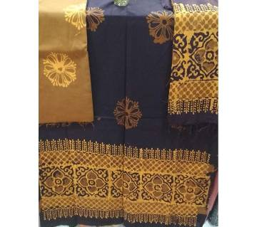 Batik Unstiched cotton three piece