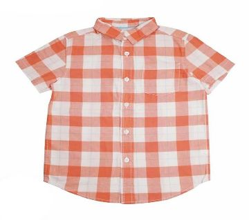 Boys 100% Cotton Check Shirt
