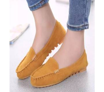 Yellow Loafer Shoes for Women