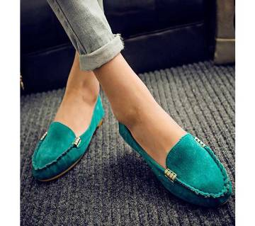 Green Loafer Shoes For Women