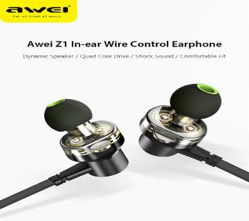 Awei Z1 In-ear Wire Control Earphone