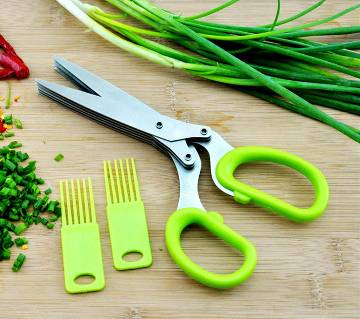 5 layers blade kitchen vegetable cutter