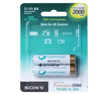 Sony AA Ni-MH 2000Mah Rechargeable Battery 2Pcs