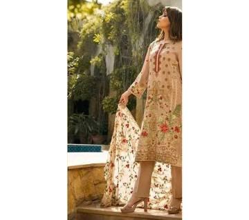 unstitched pakistani cotton three pcs