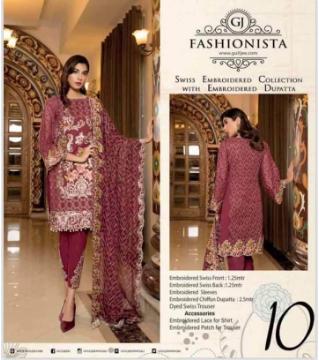 Fashiomista Unstitched cotton salwar kameez