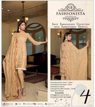 pk Fashionista Unstitched cotton salwar kameez