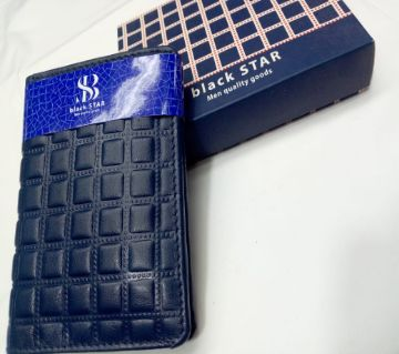 Gents Blue Leather Wallet