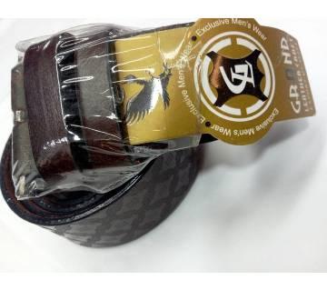 Chocolate Leather Formal Belt For Men