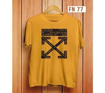 Do Not Cross The Line Menz Half Sleeve T-Shirt-01