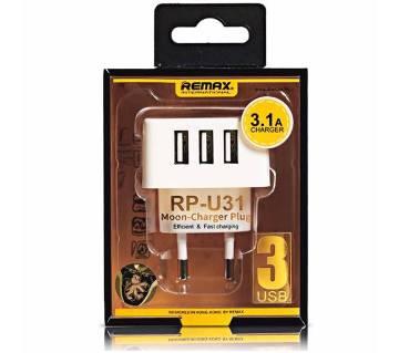 REMAX RP-U31 Moon Charger Plug 3-USB - W