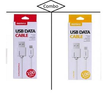 REMAX Combo Of Micro USB & Lightening Data Cable