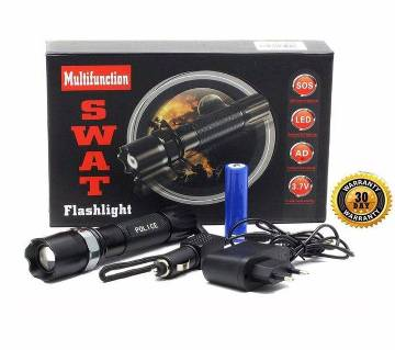 Swat Army Rechargeable Flash Light - Bl