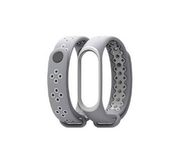 Mi Band 3 sport wrist Silicone strap - Gray