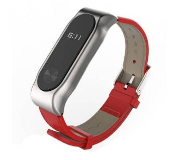 Band 2 Artificial Leather Strap - Red