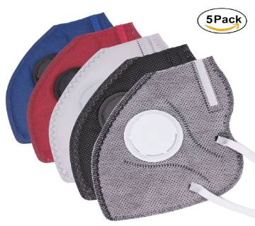 Safety Masks Mouth Anti Pollution- 5 Pcs