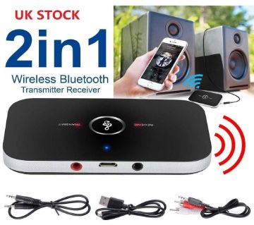Wireless Bluetooth Transmitter & Receiver Stereo Audio Adapter Car Kit for Headphones,TV,Computer, MP3/MP4, iPhone