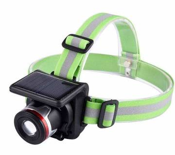 Solar Head Lamp - Green & Black