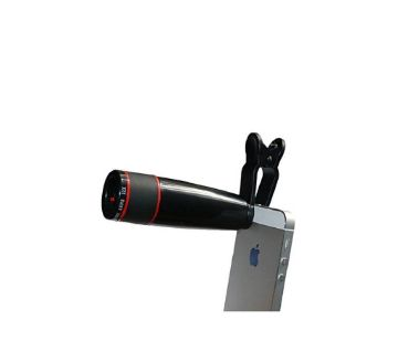 12x Universal Camera Zoom Lens - Black