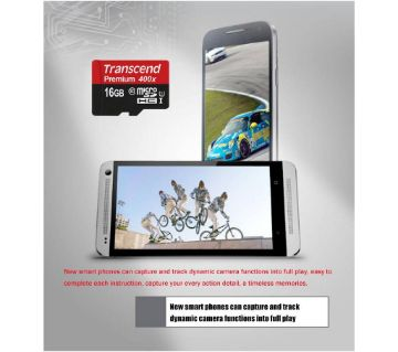 Transcend Micro SD Memory Card - 16GB Class-10