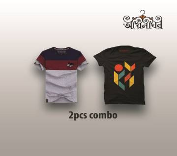 Combo Pack of 2 T-Shirt For Men