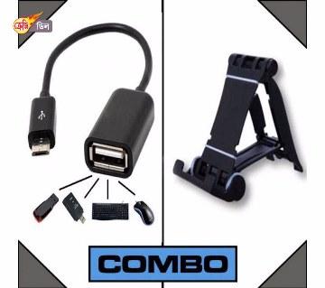Micro USB Otg ক্যাবল ও মোবাইল স্ট্যান্ড
