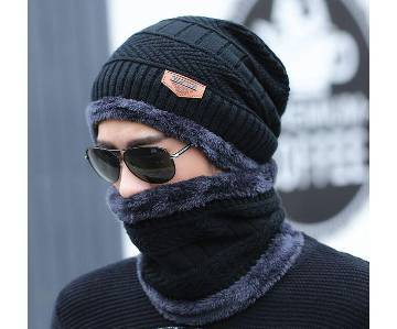 Woolen Winter Cap With Neck Band For Men And Women - Premium Quality