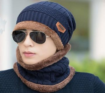 Winter cap and scarf set-Random color