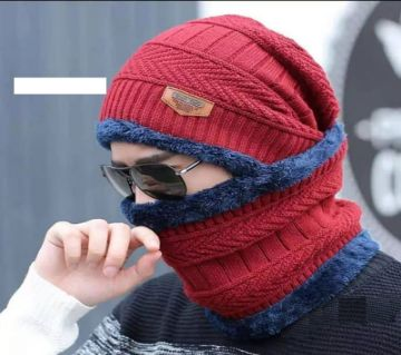 Unisex Winter Cap And Scarf Set  -Random color
