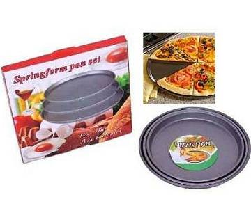 Non-Stick Pizza Pan 3pcs Set - Black