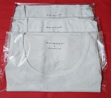 3 PCS PRIMARK Inner VEST Cotton, Sleeveless Undershirt for Men