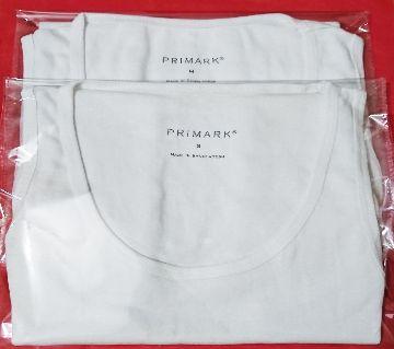 2 PCS PRIMARK Inner VEST Cotton, Sleeveless Undershirt for Men