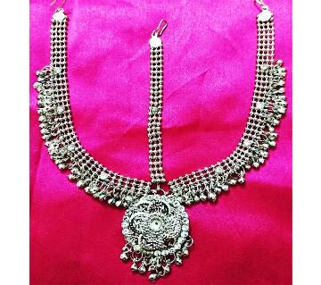 Antique Silver Metal Taira with Crystal Stones for Women and Girls