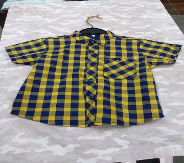 cotton half sleeve shirt for baby boy