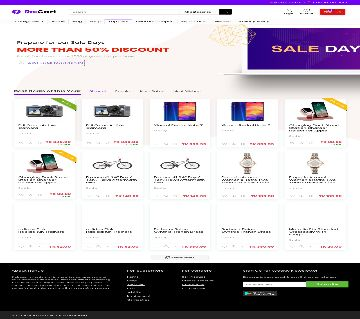 Creative and Professional E-commerce website Create