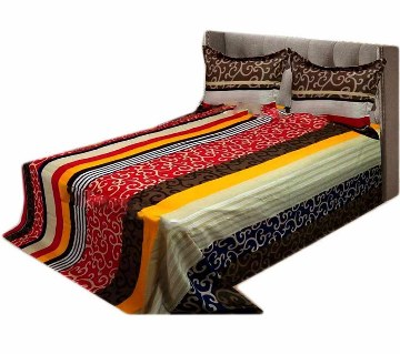 Home Tex Cotton Double Size bed Sheet Set