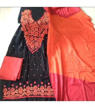 Jessore hand work  unstitched salwar kameez for women