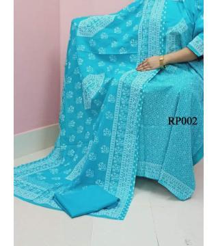 rubber print unstitched salwar kameez for women paste