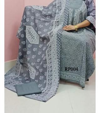 rubber print unstitched salwar kameez for women