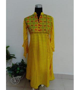 Readymate Linen Long Kurti For Women