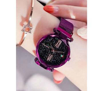 Gorgious Dior high quality magnet Analog Watch For Women Purple