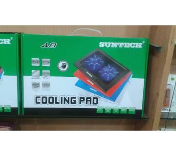 Suntech A8 Double Fan LED Laptop Cooling Pad
