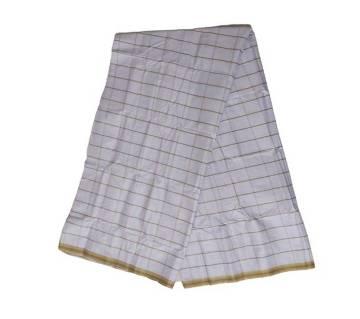 White Check Cotton Lungi