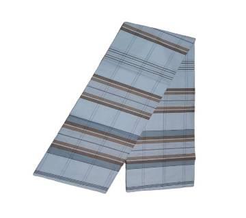 White Cotton Check Lungi