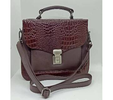 Leather ladies hand bag(LHB001)