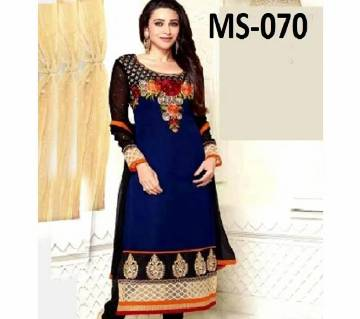 Unstiched block printed cotton salwar Kameez MS-070