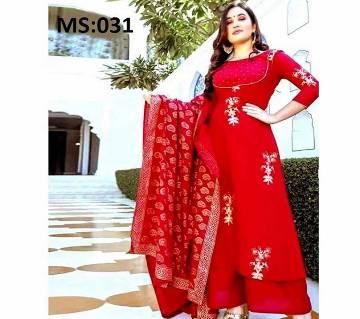 Unstitched Block Printed Salwar kameez MS-031