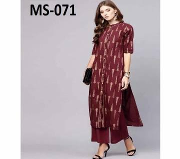 Unstiched block printed cotton salwar Kameez MS-071
