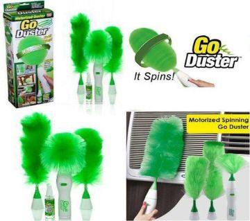 Electric Go Duster Home Cleaner For Cleaning House with microfiber duster Green Color