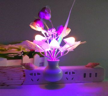 Automatic LED Sensor Mushroom Night Light Lamp With Best Gift Item Dream Light Multi-Color